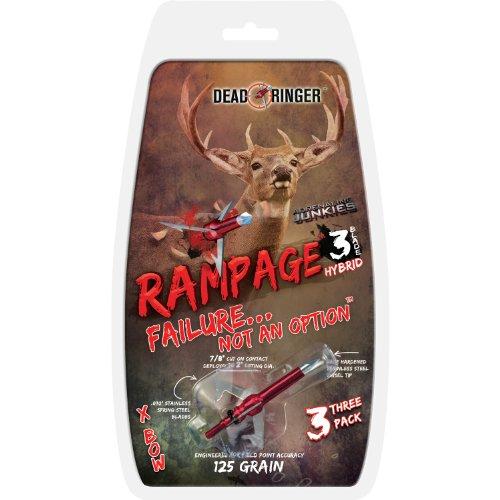 Dead Ringer Rampage 125 Grain 3-Blade for Broadheads , 2-Inc