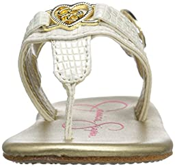 Jessica Simpson Cupid Thong (Infant/Toddler), White, 3 M US Infant