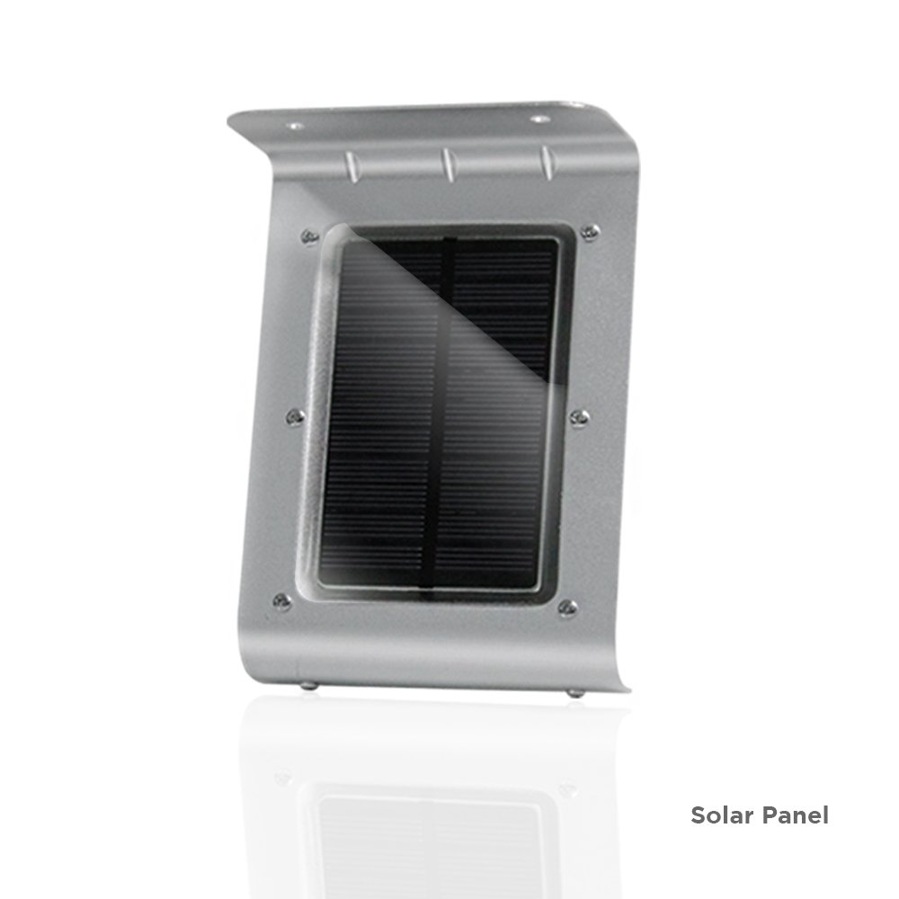 Durable Metal Body Water Proof eTopLighting 3 Packs of 16-LED Solar-Powered Outdoor Wall Light Lamp with Motion Sensor AGG1998 Heat Proof Solar Panel