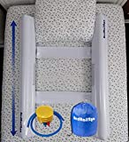 [2 Pack] Inflatable Toddler Bed Bumpers with Safety Straps - Bed Rails Guard for Kids, Portable Baby beds Safety Side Pillow - Water Proof - White: more info