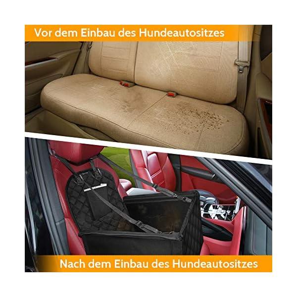 51DiA7PY5JL KYG Hunde Autositz für Kleine Hunde Wasserdichter Hundeautositz für Rück- und Vordersitz mit Verstärkte Wände und 4…