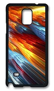 Adorable Beautiful abstract colorful fire like Feathers Hard Case Protective Shell Cell Phone For Case HTC One M8 Cover