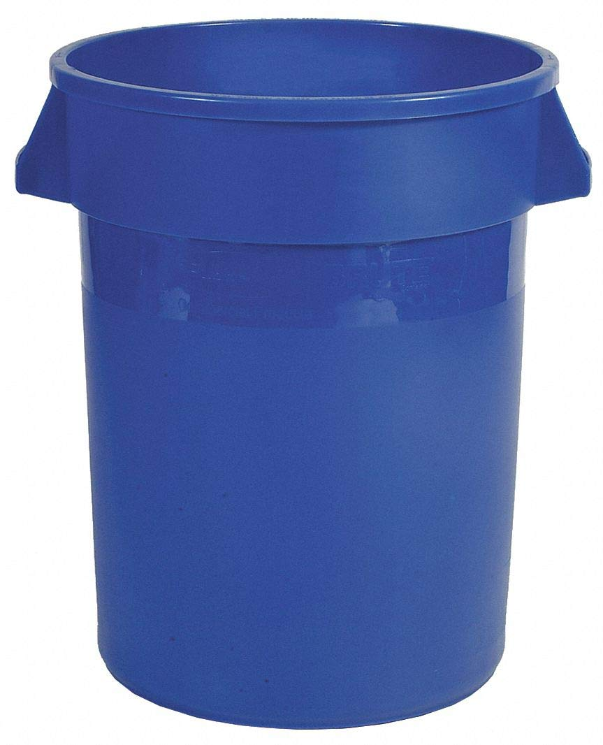 Food-Grade Waste Container, 10 gal, Bl