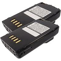 2x Exell 9.6V 1000mAh Ni-MH FRS 2way Radio Battery Fits Vertex FNB-41, FNB-42, FT-10, FT-40, FT-50, FT10R, FT40R, FT50R, VXA-100, Yaesu FNB-41, FNB-42, FT-10, FT-40, FT-50, FT10R, FT40R, FT50R,VXA-100