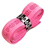 Karakal PU Supergrip replacement racquet grip - tennis / badminton / squash - Various Single Colours (Pink, 3 Grips)