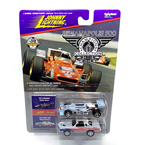 Johnny Lightning 1975 Bobby Unser & Century Pace Car Indianapolis 500 Champions Series 2 1996 Playing Mantis 1:64 Scale Authentic Replicas of Famous Indy Winners Die Cast Vehicle 2-Pack ()