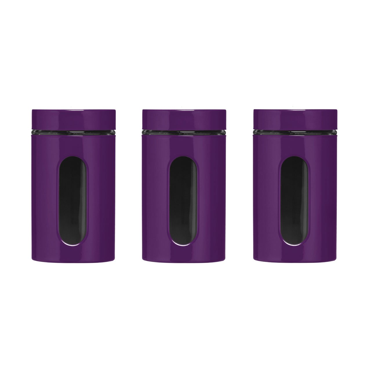 Purple Enamel Finish Tea Coffee Sugar Jar Canisters 1000ml Multi Purpose Storage Jars Set With Glass Window Amazon.co.uk Kitchen u0026 Home  sc 1 st  Amazon UK & Purple Enamel Finish Tea Coffee Sugar Jar Canisters 1000ml Multi ...