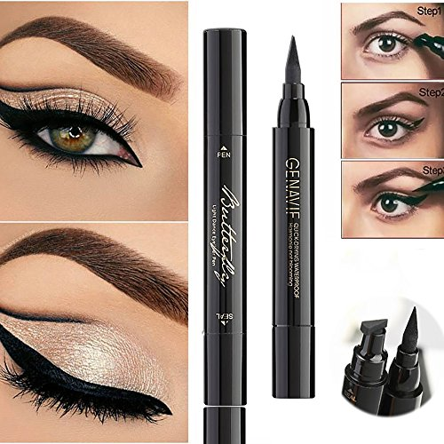 Strong-Willed Eyeliner Double Head Durable Waterproof Black Wing Seal Eyeliner Eye Makeup Beauty Pencil Tool Maquillage Skilful Manufacture Beauty Essentials