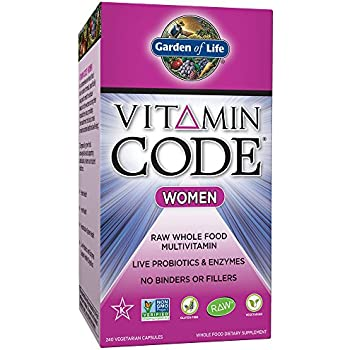 Garden of Life Multivitamin for Women - Vitamin Code Women's Raw Whole Food Vitamin Supplement with Probiotics, Vegetarian, 240 Capsules