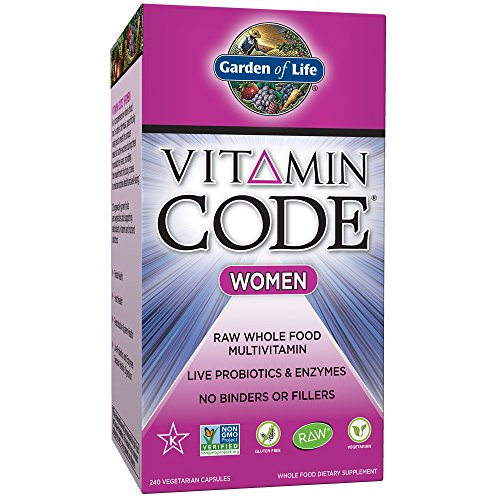(Garden of Life Multivitamin for Women - Vitamin Code Women's Raw Whole Food Vitamin Supplement with Probiotics, Vegetarian, 240 Capsules)