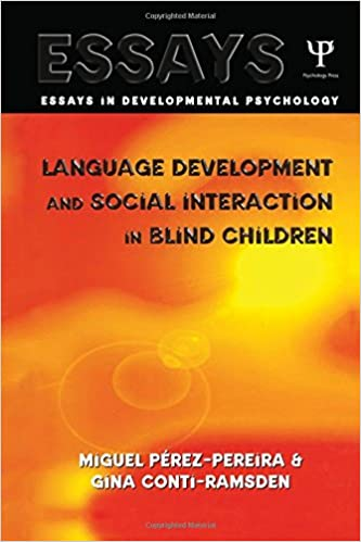 amazon com language development and social interaction in blind  language development and social interaction in blind children essays in developmental psychology 1st edition