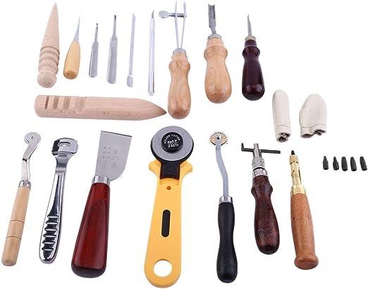 Yosoo - Lote de 24 herramientas de marroquinería para grabado y ...