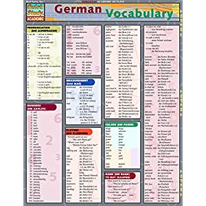 German Vocabulary (Quickstudy Reference Guides - Academic)