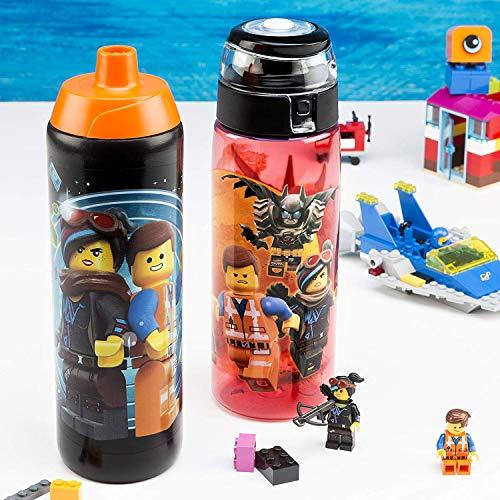 - Zak Designs The LEGO Movie Kids Water Bottle Set, Made of Plastic, Leak-Proof Water Bottle Designs (Batman & Robin/Wyldstyle & Emmet, BPA Free, 2pc Set)