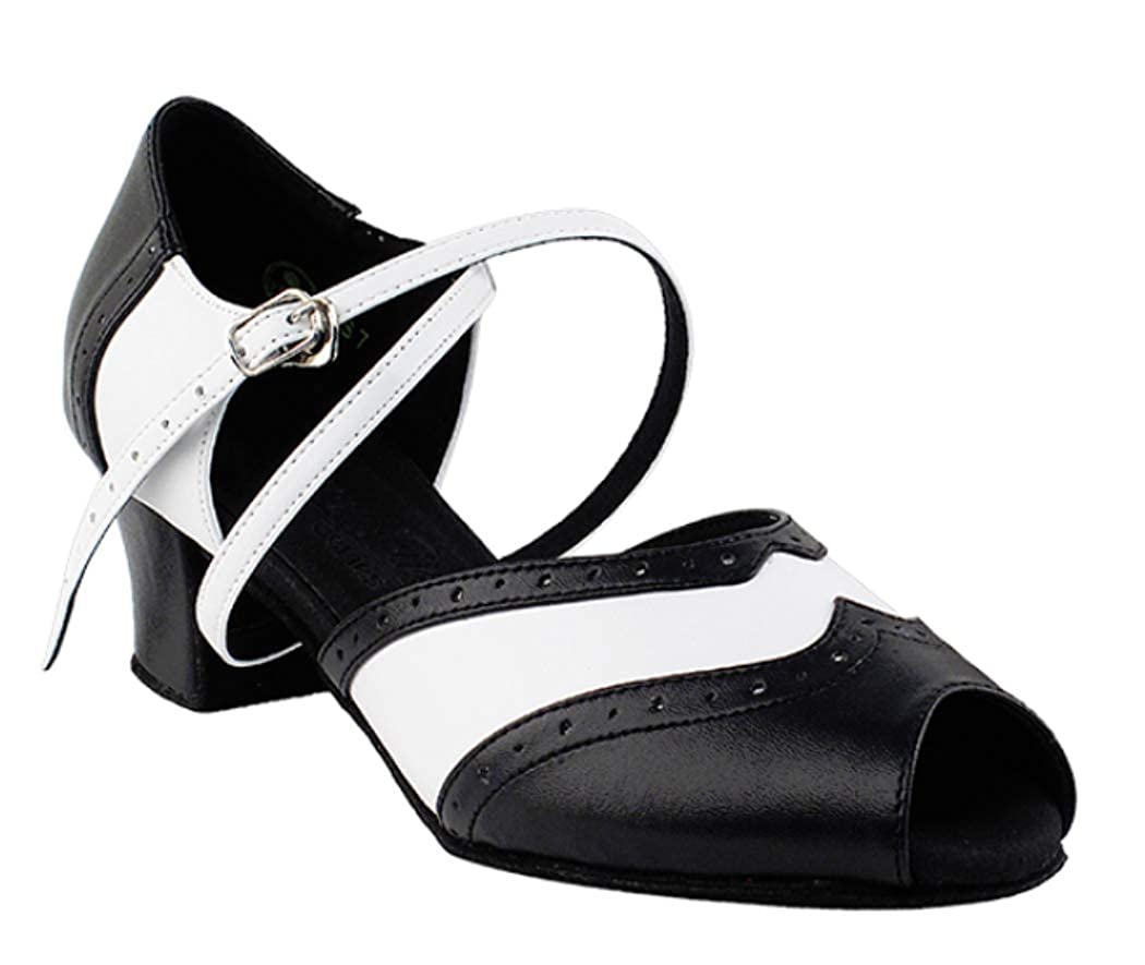 Amazon com ladies women ballroom dance shoes from very fine c6035 black cuban heel ballet dance