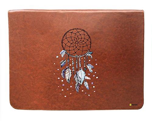 Hamee Original Tan Brown Leather Laptop Sleeve / Case / Pouc