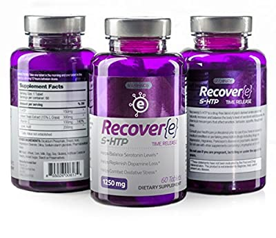 Recover(e) 5-HTP Recovery Supplement (Hydroxytryptophan) (1250mg- 60 Capsules)