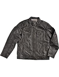 Men's Motorcycle Leather Jacket - 41-196