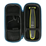 For Philips Norelco OneBlade hybrid electric trimmer and shaver, FFP, QP2520/90,QP2520/70 Travel Hard Case by Baval