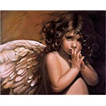 DIY Paint By Number Kits Fairy Angel with wings 16x20 inch Frameless