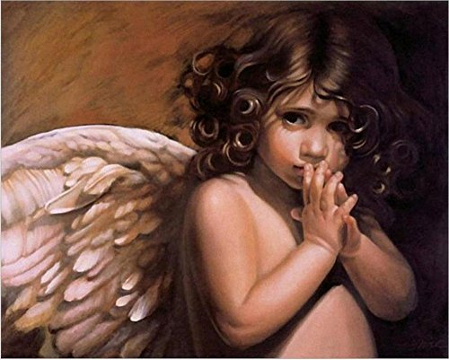 Diy oil painting, paint by number kit - The wings of the angel 16*20 inch. Angel Paint