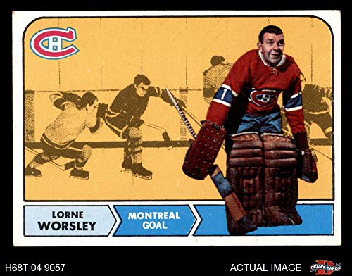 1968 Topps # 56 Gump Worsley Montreal Canadiens (Hockey Card) Dean's Cards 5 - EX - Card Hockey Canadiens