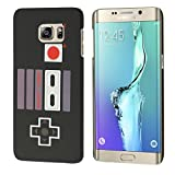 Samsung Galaxy S6 Edge+ Plus Case, S6 Edge+ Plus SM-G928G Cover, DURARMOR® TrendzArmor [Lifetime Warranty] Black NES Game Controller Minimalistic Slim Fit Hard Case Protector Cover