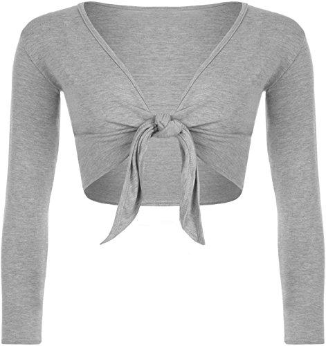 Para atar para mujer boleros de nudo de FUSTA pantalón corto traje de neopreno para mujer chaqueta Toreras en la parte superior y patrones para coser 8-22 gris claro