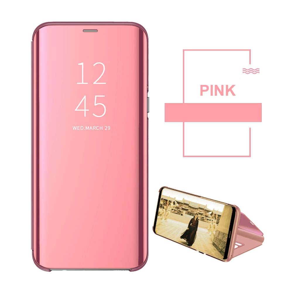 Apple 6Plus 6s Plus Case PU Ultra Slim View Flip Cover with Kickstand Case Cover Makeup Mirror Protective for iPhone6 6s