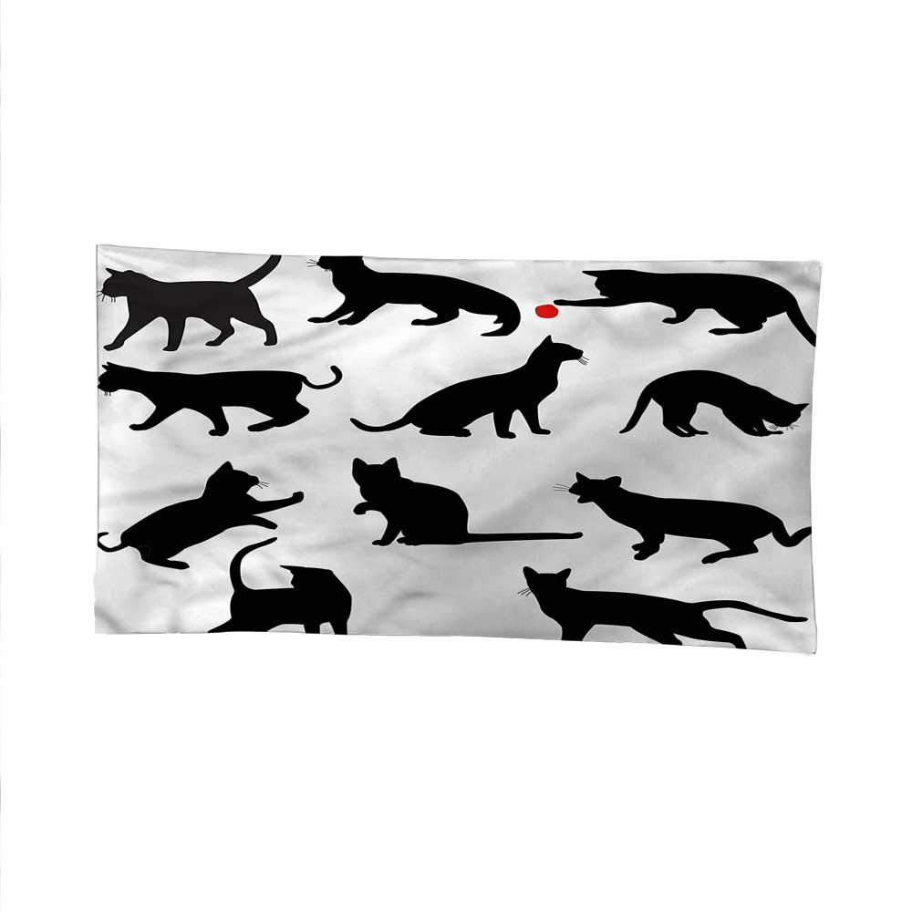 color11 84W x 54L Inch color11 84W x 54L Inch Catspace tapestrywall Hanging tapestryRed Ball Animal Pet Kittens 84W x 54L Inch