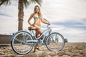 "JBikes Chloe Women's 26"" Beach Cruiser Bike Baby Blue"