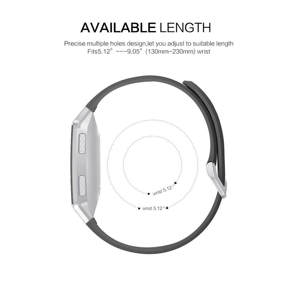 Banda de Reloj para Fitbit cinturón Ajustable iónico Hueco Correa de Reloj de Pulsera de Silicona de Silicona Deportes iónicos: Amazon.es: Relojes
