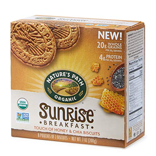Nature's Path Organic Sunrise Breakfast Biscuits, Honey & Chia, 7 Ounce Box (6 - Breakfast Biscuits