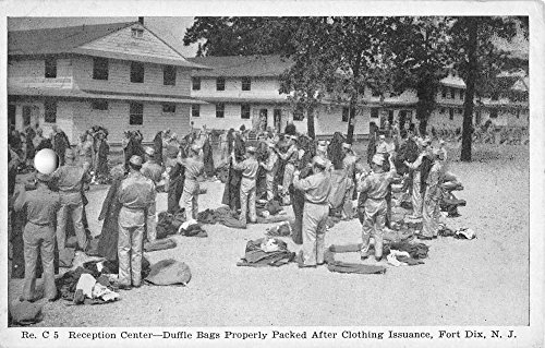 - Fort Dix New Jersey Reception Center Clothing Issuance Antique Postcard K97004