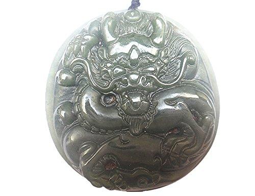 Natural nephrite jade old chinese dragon pendant good luck jade charm pendants