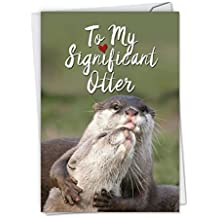Amazon the best card company c5528ang significant otters hilarious anniversary greeting card featuring sweet otters showing love to their partner m4hsunfo