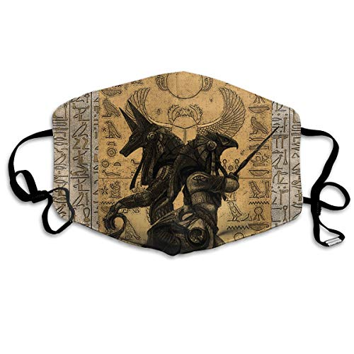 Egypt Anubis Washable Reusable Safety Mask, Cotton Anti Dust Half Face Mouth Mask for Kids Teens Men Women Lovers Dustproof With Adjustable Ear Loops]()