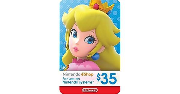 Nintendo Eshop Karte.Amazon Com 35 Nintendo Eshop Gift Card Digital Code Video Games
