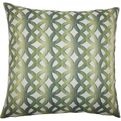 (The Pillow Collection Heulwen Geometric Bedding Sham Jade Euro/26