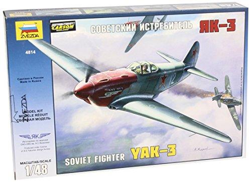 Zvezda Models Yak-3 Yakovlev Soviet WWII Fighter Aircraft Building Kit, Scale 1/48