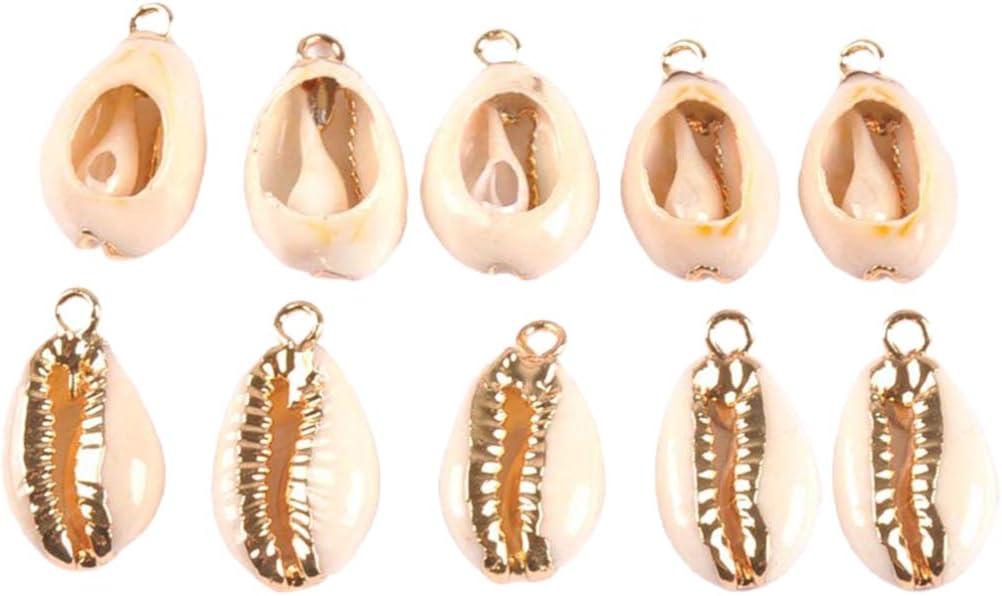 PRETYZOOM - 10 piezas de conchas naturales de cani, conchas y conchas colgantes, perlas para manualidades, joyas