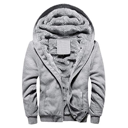 Pile Caldo Leggera Grigio size Mano Sottile Hoode Mens Plus Xinheo Cerniera Outwear qA6WxnwZtB