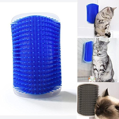 Cindere Pet Brush Cat Massager Self Groomer Wall Corner Massage Groomer Cat Self Grooming Brush by Cindere
