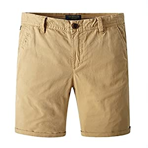 TBMPOY Men's Classic Fit Chino Flat Front Shorts Casual Cotton Short Pants