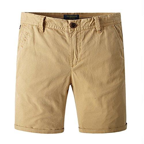 TBMPOY Men's Performance Canvas Slim Fit Extreme Comfort Short(Khaki,US 29)
