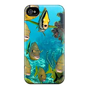 Pretty DoEU107 Iphone 4/4s Case Cover/ School Of Fish Series High Quality Case