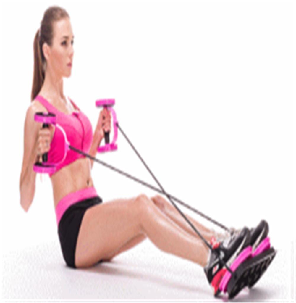 rose Multifonction abdominale équipeHommest rond de fitness corde d'exercice mouveHommest maison abdoHommes rouleaux de roue abdominale sport pliable