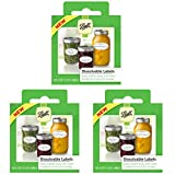 Jarden Ball Dissolvable Canning Labels, 60-Labels per Pack (3-Packs Total)