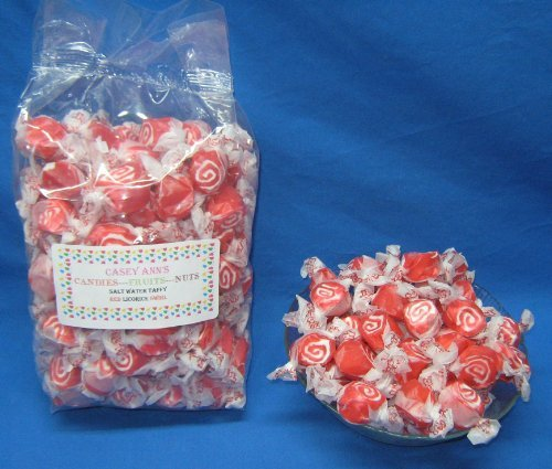 Red Licorice Swirl Flavored Taffy Town Salt Water Taffy 2 Pounds