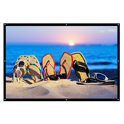 Projector Screen, Auledio Portable Outdoor Movie Screen 120' 16:9 Home Cinema Theater Projection Screen